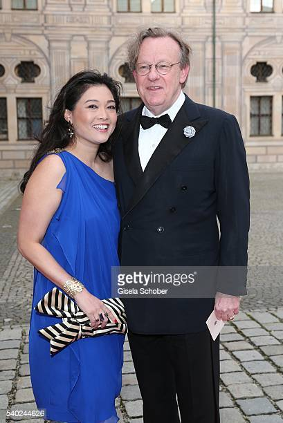 Hieronymus von WolfMetternich and his wife Marynic of WolfMetternich during a charity dinner hosted by AMADE Deutschland and Roland Berger Foundation...