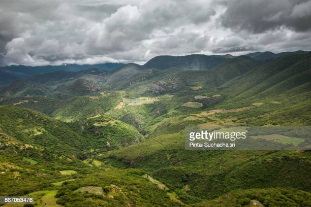 hierve el agua natural petrified rock formation in oaxaca, mexico - oaxaca stock pictures, royalty-free photos & images