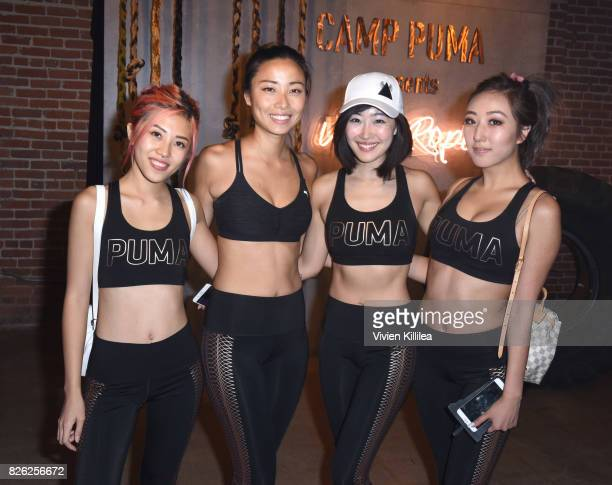 Hieu Cao Chanel Li Ruby Park and Agnes Tang attend PUMA Hosts CAMP PUMA To Launch Their Newest Women's Collection Velvet Rope at Goya Studios on...