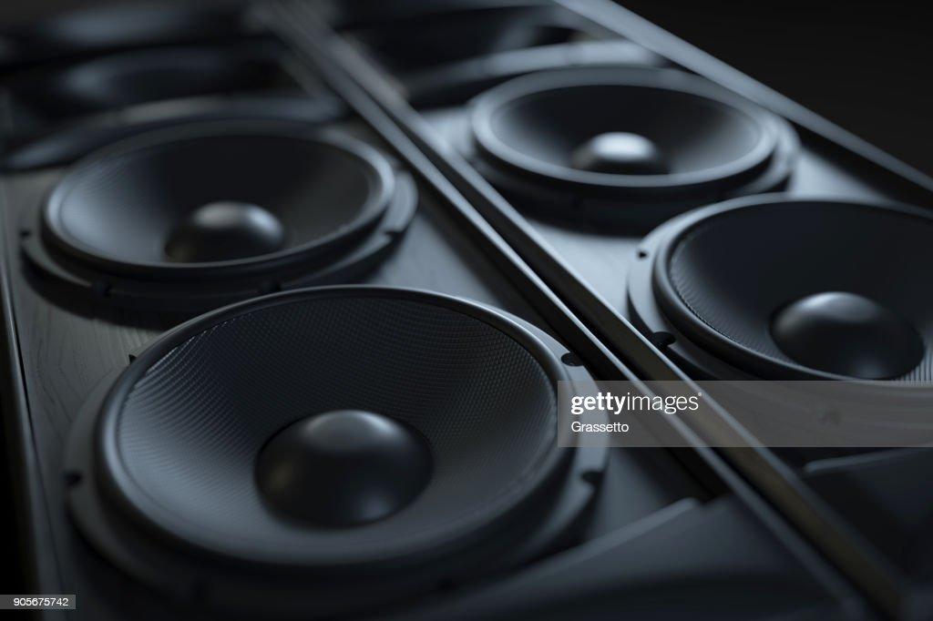 Hi-Fi sound Akustiksystem Nahaufnahme. : Stock-Foto