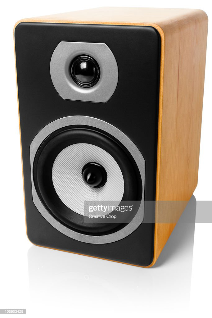 Hi-Fi speaker on white background : Foto stock