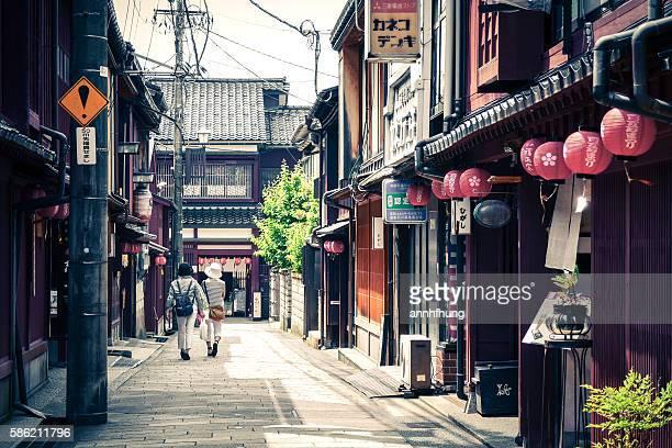 higashi chaya district - hokuriku region stock photos and pictures