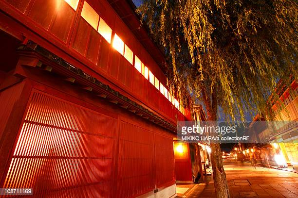 Higashi chaya teahouse district, Kanazawa City, Ishikawa Prefecture, Honshu, Japan