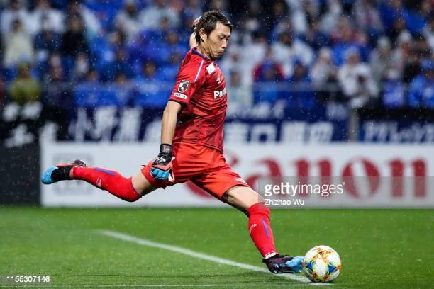 Higashiguchi Masaaki of Gamba Osaka in action during the JLeague J1 match between Gamba Osaka and Vissel Kobe at Panasonic Stadium Suita on March 30...
