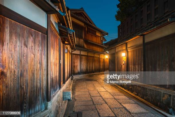 higashiyama district at dusk, kyoto, japan - japanese culture stock pictures, royalty-free photos & images