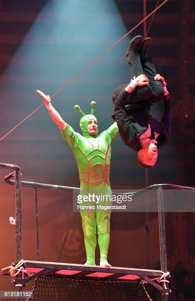 High 5 during Circus Krone celebrates premiere of 'Hommage' at Circus Krone on February 1 2018 in Munich Germany