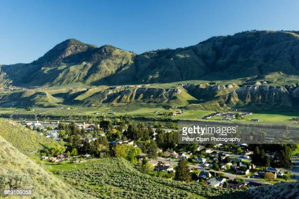 high above kamloops - kamloops stock pictures, royalty-free photos & images