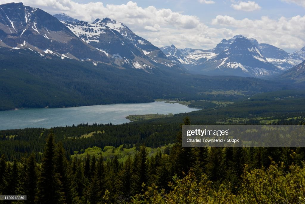 High Above Lower Two Medicine Lake : Stock Photo