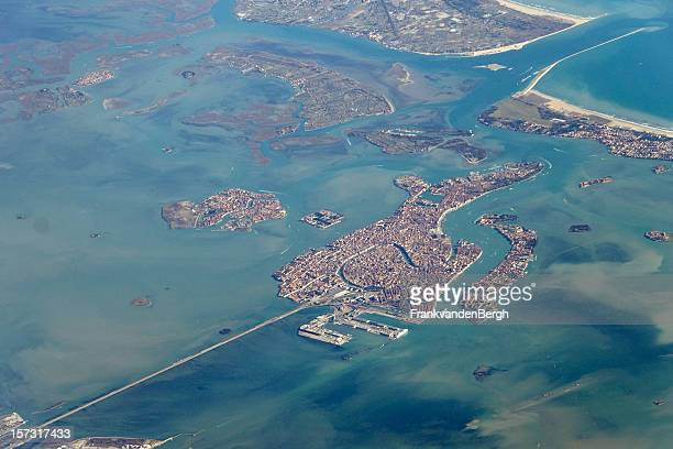 high above venice - lagoon stock pictures, royalty-free photos & images