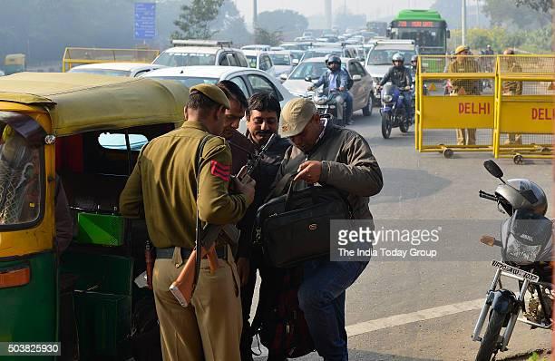 High alert at Sardar Patel Marg in New Delhi