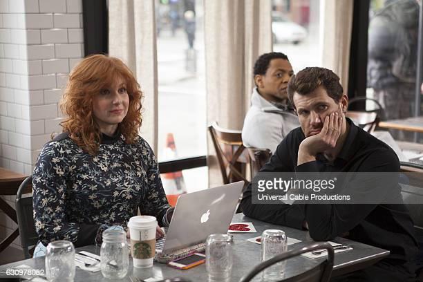 PEOPLE 'High Alert' Episode 210 Pictured Julie Klausner as Julie Kessler Billy Eichner as Billy Epstein
