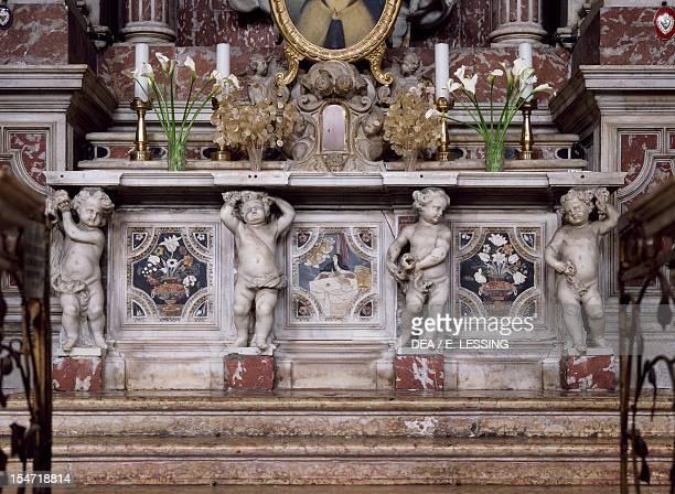High altar Church of Santa Maria di Nazareth or Church of the Scalzi Venice Italy 17th18th century Detail