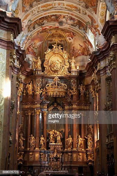 High Altar of the Abbey Church of Stift Melk Benedictine Monastery Lower Austria Austria