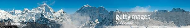 High altitude Berggipfeln panorama Himalajagebirge Nepals