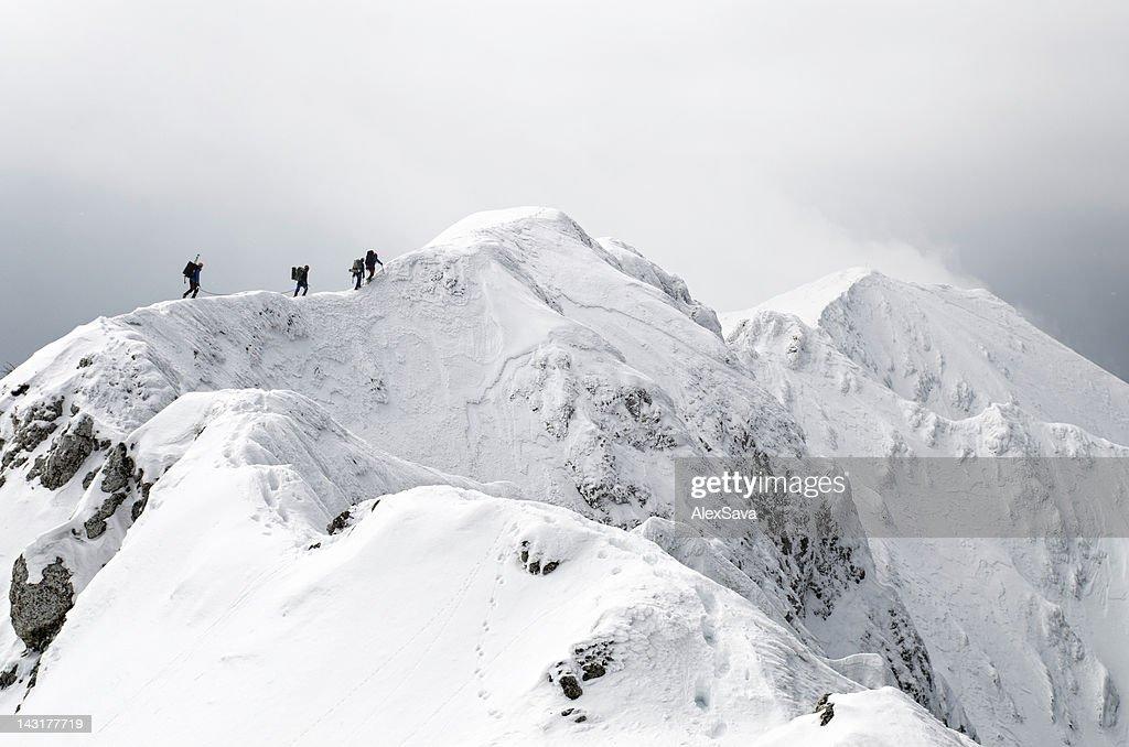 high altitude mountaineering : Stock Photo
