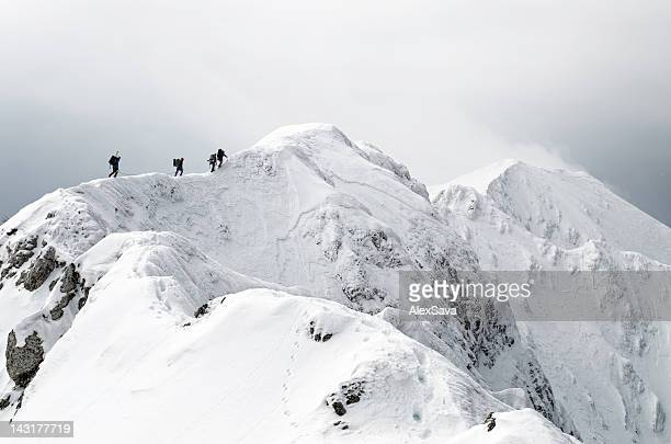 high altitude mountaineering - summit stock pictures, royalty-free photos & images