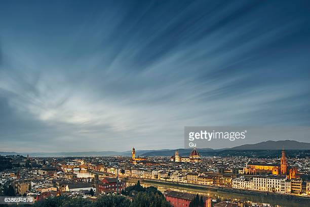 High angle cityscape from Piazzale Michelangelo, Florence, Italy