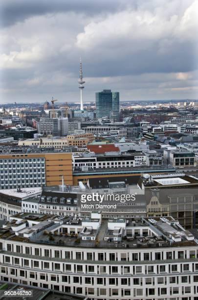 High Angle of Hamburg Germany