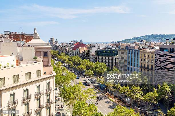 High angle of Passeig de Gracia
