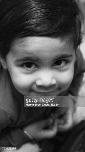 High Angle Portrait Of Smiling Girl