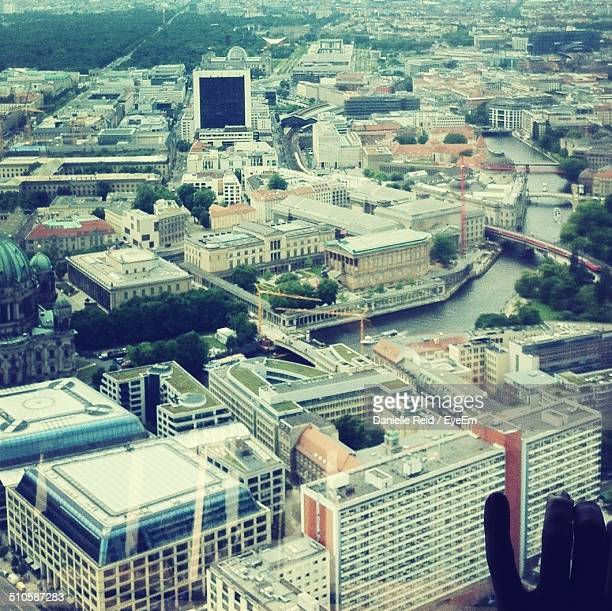 high angle shot of cityscape - reid,_wisconsin stock pictures, royalty-free photos & images