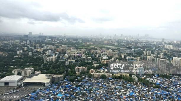 high angle shot of cityscape - punjab india stock pictures, royalty-free photos & images