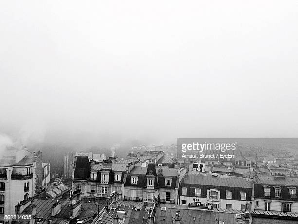high angle shot of townscape against clear sky - arnault stock pictures, royalty-free photos & images