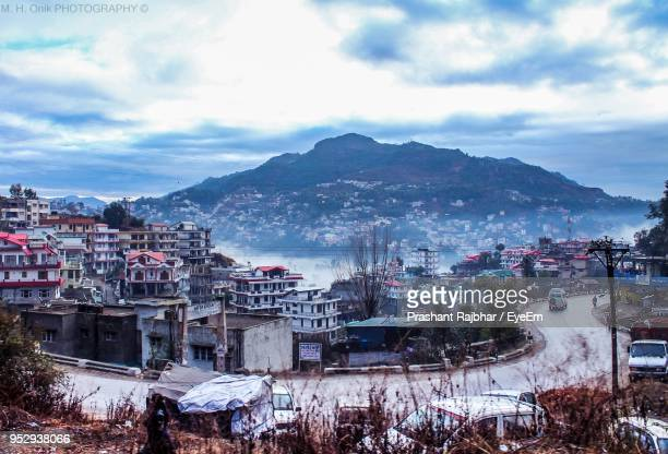 high angle shot of townscape against sky - prayagraj stock pictures, royalty-free photos & images