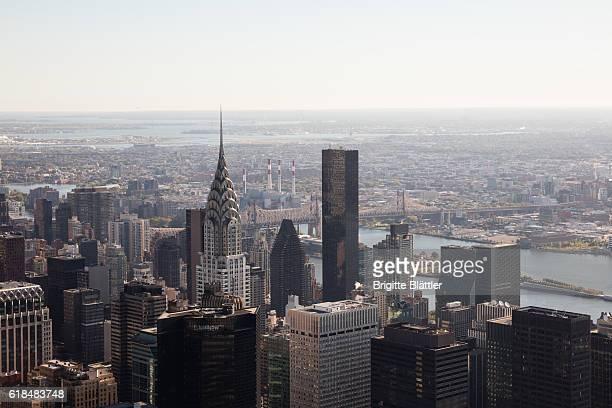 High angle view at New York