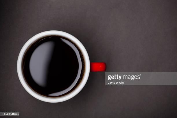 High angle view coffee