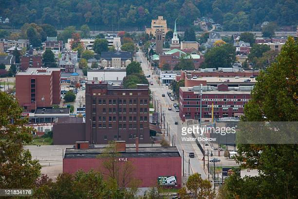 high angle view from spring hill, charleston, west virginia, usa - charleston west virginia stock pictures, royalty-free photos & images