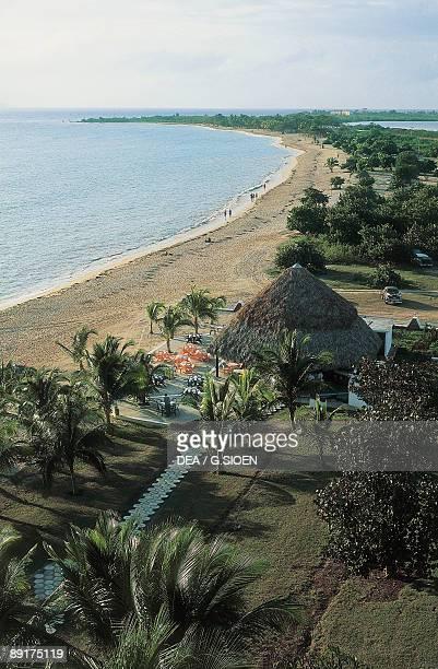 High angle view of a beach Playa Ancon Trinidad Cuba