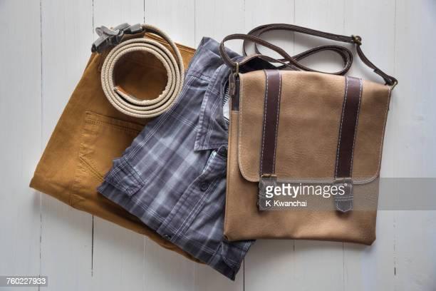 High Angle View Of A Brown Bag