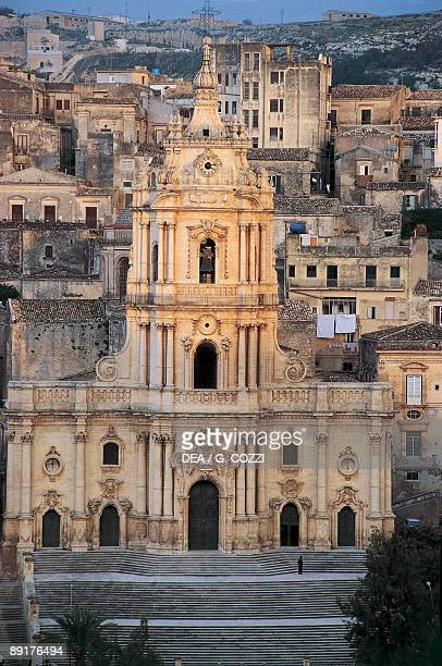 High angle view of a church Church of Saint George Modica Sicily Italy