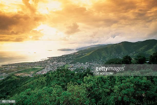 High angle view of a city at the coast Port Of Spain Trinidad Trinidad And Tobago