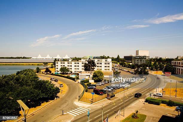 High angle view of a city, Bordeaux Lake, Bordeaux, Aquitaine, France