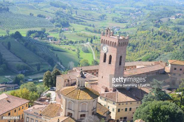 high angle view of a city - san miniato stock pictures, royalty-free photos & images