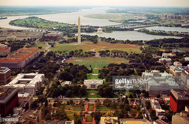 high angle view of a city, washington dc, usa - casa branca washington dc - fotografias e filmes do acervo