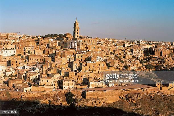 High angle view of a cityscape Matera Basilicata Italy