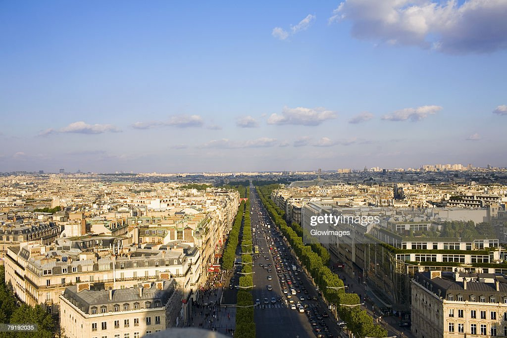High angle view of a cityscape, Paris, France : Foto de stock