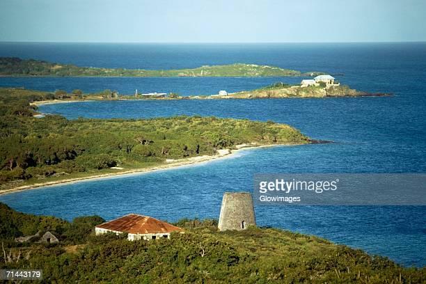 High angle view of a coastline, St. Croix, U.S. Virgin Islands
