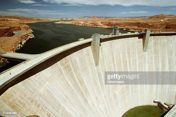 High angle view of a dam, Glen Canyon Dam, Arizona, Utah, USA