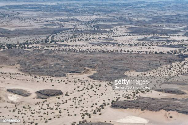high angle view of a desert - gerhard schimpf stock photos and pictures