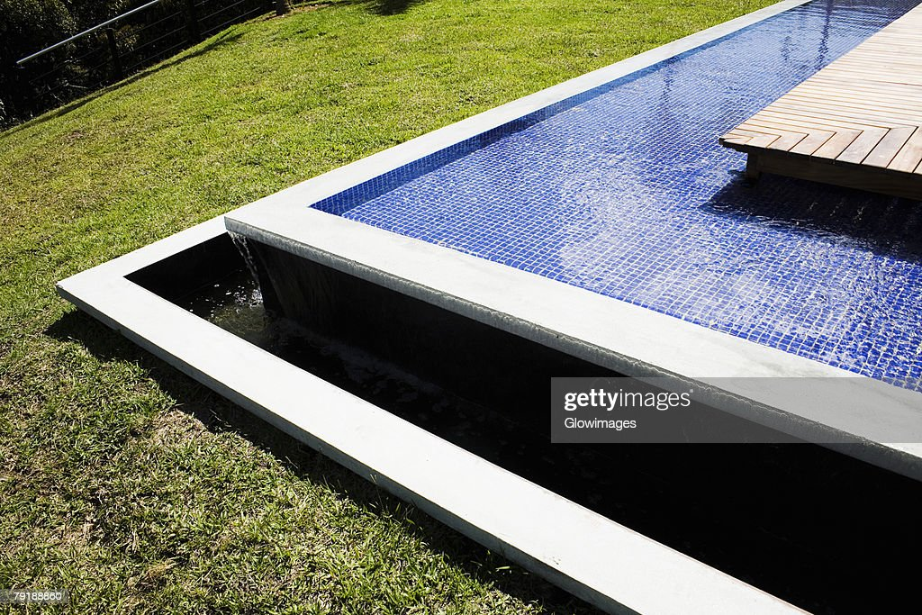 High angle view of a fountain : Stock Photo