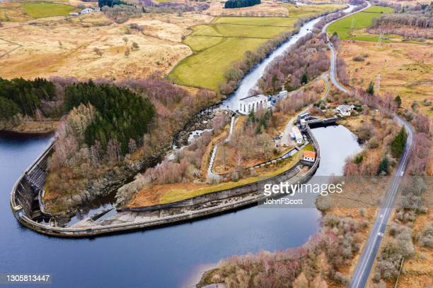 high angle view of a hydro electric power station - johnfscott stock pictures, royalty-free photos & images