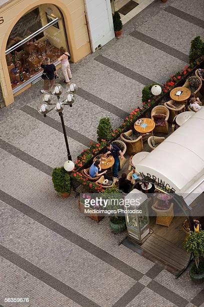 High angle view of a restaurant, Old Town, Prague, Czech Republic