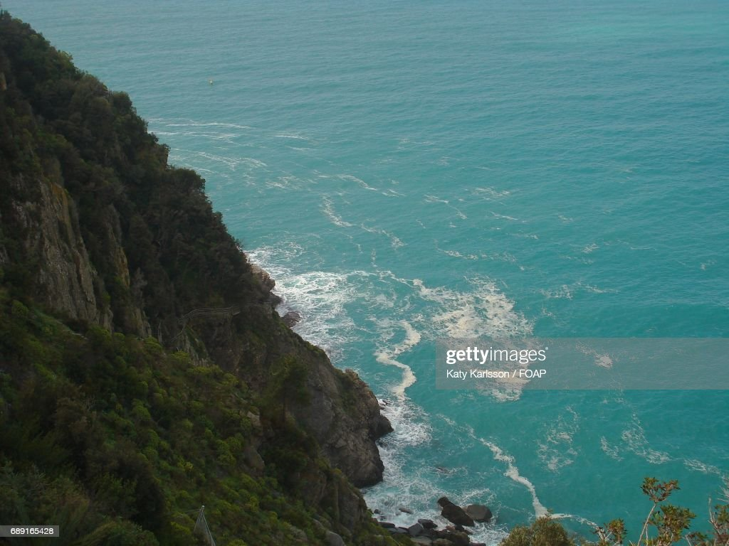 High angle view of a sea : Stock Photo