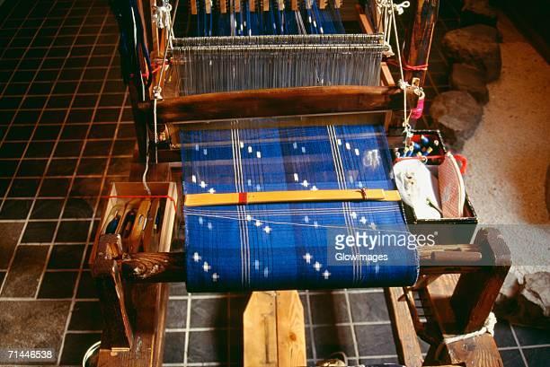 High angle view of a textile machine, Matsuyama, Japan