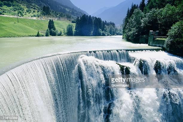 High angle view of a waterfall, Switzerland