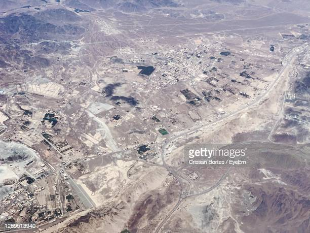 high angle view of aerial shot of land - bortes stock pictures, royalty-free photos & images